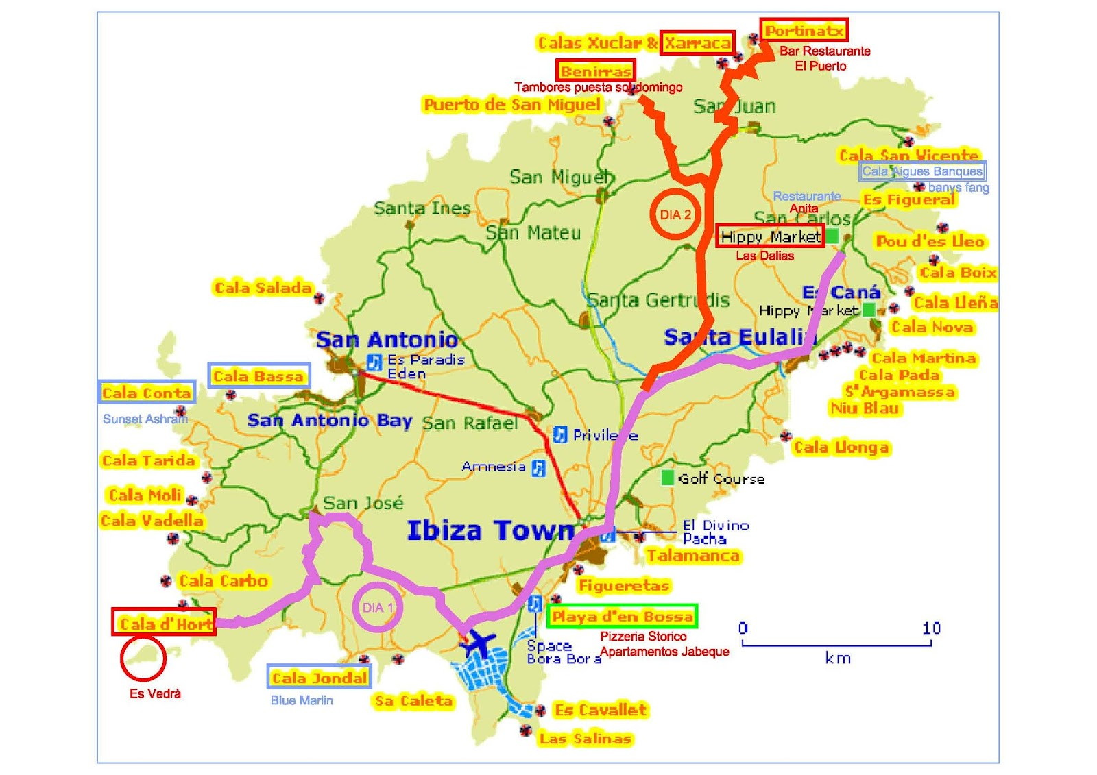 mapa ibiza espanha Ibiza e Formentera | VIAGENS DE PASSAGEM mapa ibiza espanha